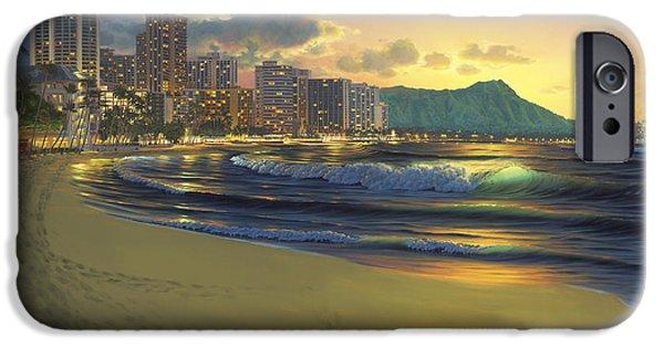 Waikiki Sunrise IPhone Case by Al Hogue