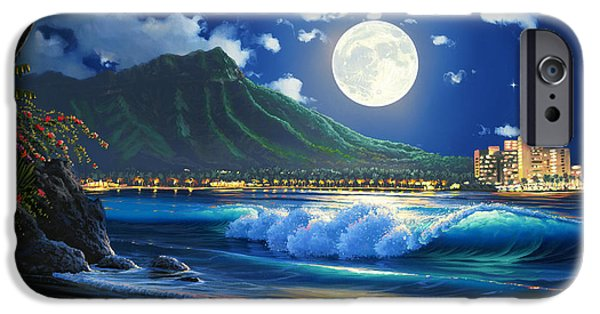 Waikiki Surf Aglow IPhone Case by Al Hogue