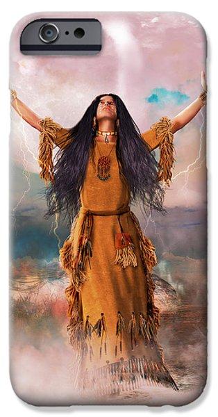 Wakan Tanka The Great Spirit IPhone Case by Shanina Conway