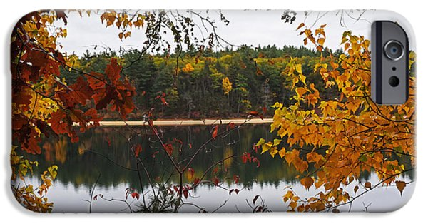 Walden Pond Fall Foliage Leaves Concord Ma IPhone Case by Toby McGuire