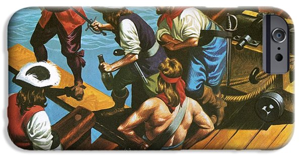 Walking The Plank IPhone Case by Ron Embleton
