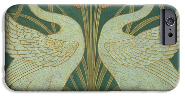Wallpaper Design For Panel Of Swan Rush And Iris IPhone Case by Walter Crane