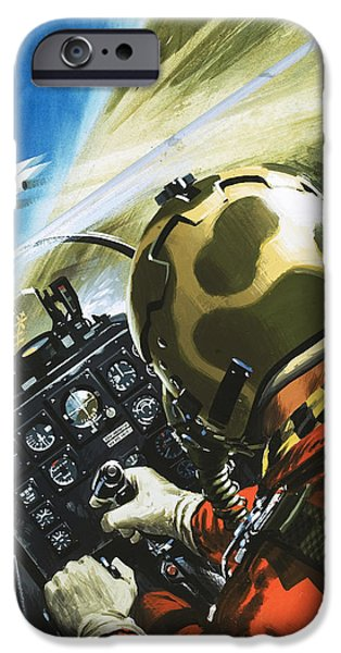 War In The Air IPhone Case by Wilf Hardy