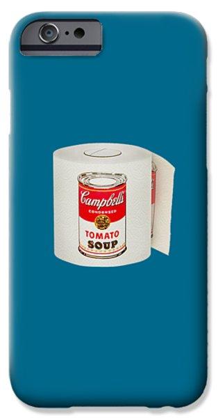 War Roll - Poop Art IPhone Case by Nicholas Ely