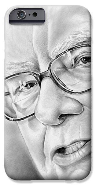 Warren Buffett IPhone Case by Greg Joens