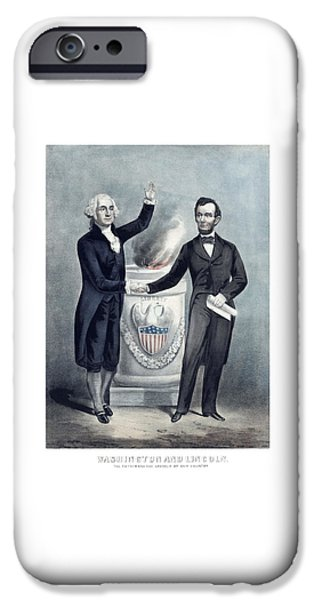 Washington And Lincoln IPhone Case by War Is Hell Store