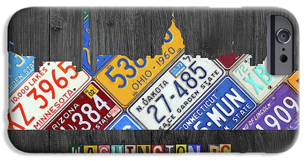 Washington Dc Skyline Recycled Vintage License Plate Art IPhone 6s Case by Design Turnpike