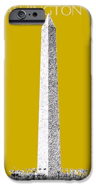 Washington Dc Skyline Washington Monument - Gold IPhone 6s Case by DB Artist