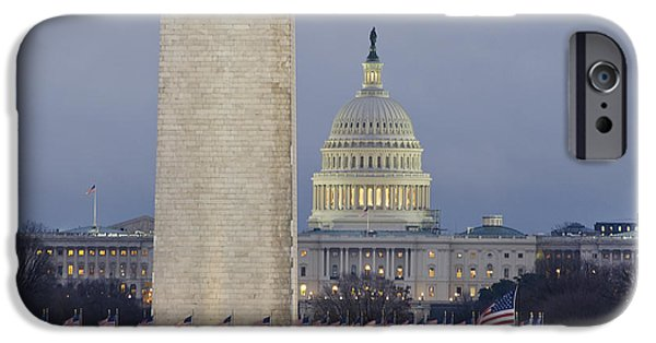 Washington Monument And United States Capitol Buildings - Washington Dc IPhone 6s Case by Brendan Reals