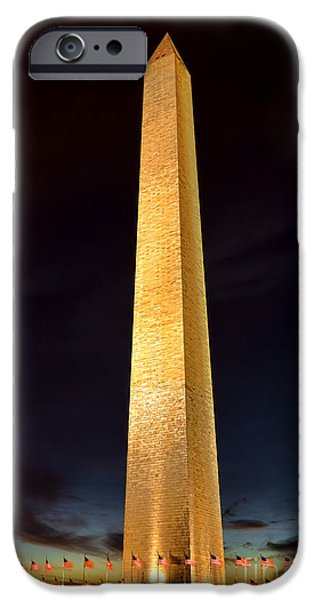 Washington Monument At Night  IPhone Case by Olivier Le Queinec