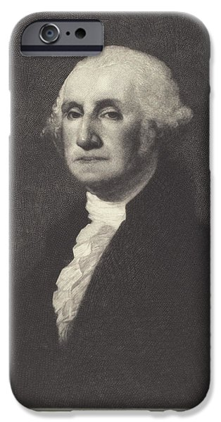 Washington IPhone Case by Timothy Cole After Gilbert Stuart