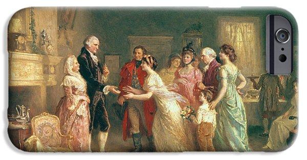 Washingtons Birthday IPhone Case by Jean Leon Jerome Ferris