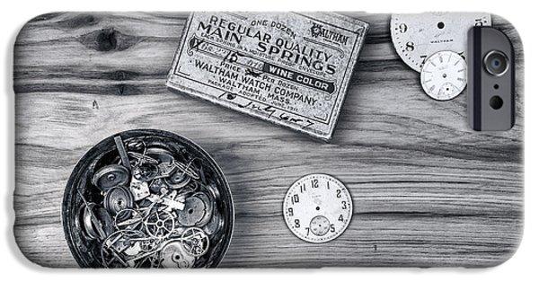 Watch Parts On Wood Still Life IPhone Case by Tom Mc Nemar