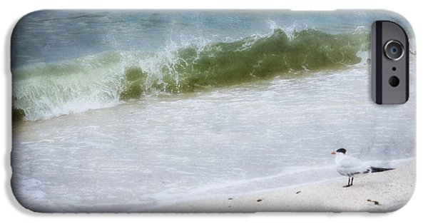 Watching Waves Crest And Break IPhone Case by Barbara Chichester
