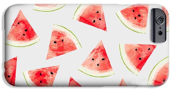 Watercolor Watermelon Pattern IPhone 6s Case by Uma Gokhale