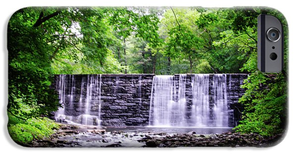 Waterfall In Gladwyne Pa IPhone Case by Bill Cannon