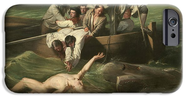 Watson And The Shark IPhone Case by John Singleton Copley