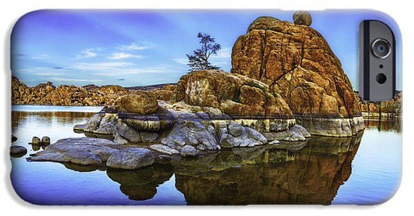 Watson Lake Sunrise IPhone Case by Janet Ballard