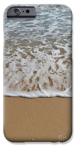 Waves Meet The Sand IPhone Case by Angelo DeVal