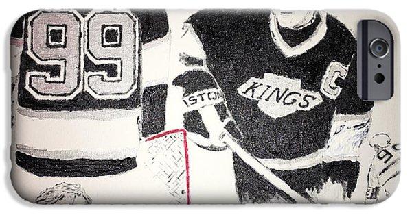 Wayne Gretzky IPhone Case by Jack Bunds