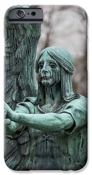 Weeping Angel IPhone Case by Dale Kincaid