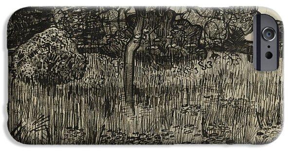 Weeping Tree IPhone Case by Vincent Van Gogh