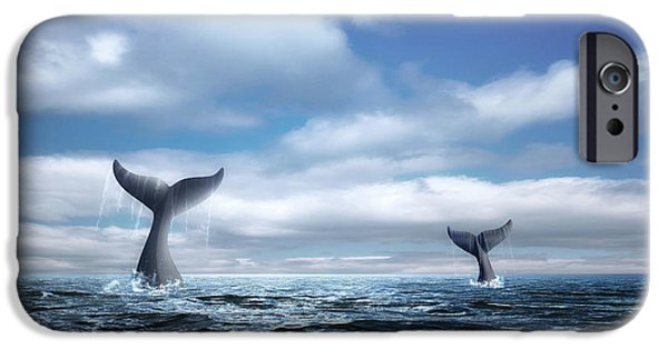 Whale Of A Tail IPhone Case by Tom Mc Nemar