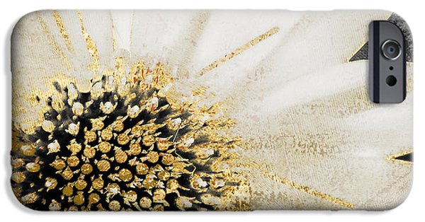 White And Gold Daisy IPhone 6s Case by Mindy Sommers