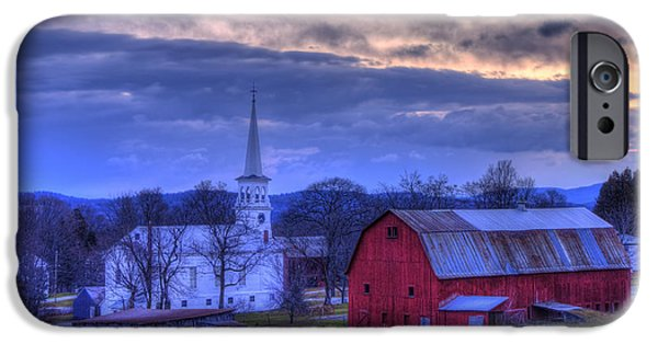 White Church And Red Barn - Peacham Vermont IPhone Case by Joann Vitali