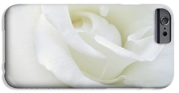 White Rose Angel Wings IPhone Case by Jennie Marie Schell