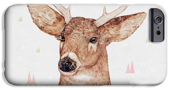 White Tailed Deer Square IPhone 6s Case by Animal Crew