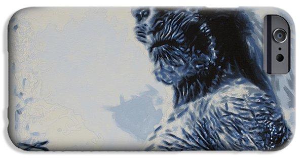 White Walker IPhone Case by Luis Ludzska