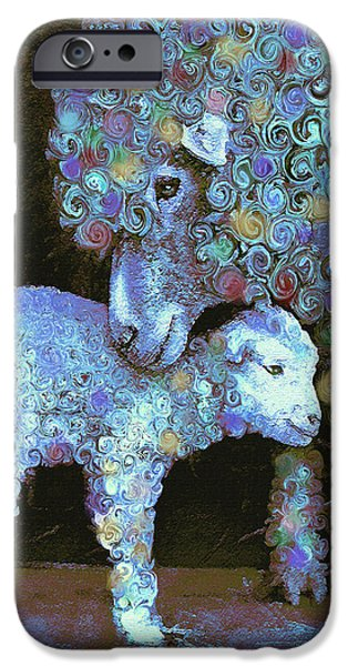 Whose Little Lamb Are You? IPhone Case by Jane Schnetlage