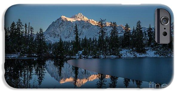 Wide Shuksans Last Light Reflected IPhone Case by Mike Reid