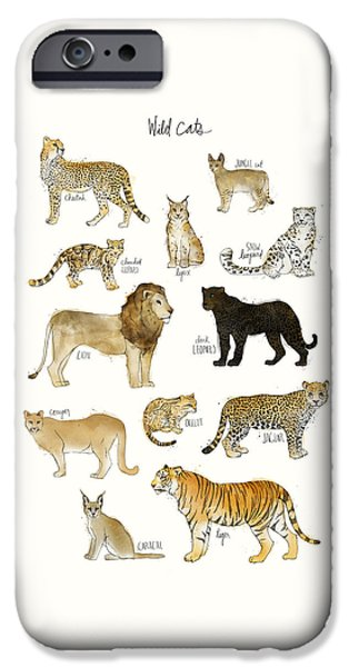 Wild Cats IPhone Case by Amy Hamilton