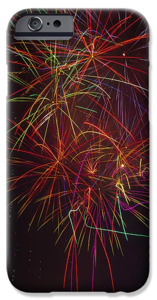 Wild Colorful Fireworks IPhone Case by Garry Gay