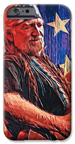 Willie Nelson IPhone 6s Case by Taylan Apukovska