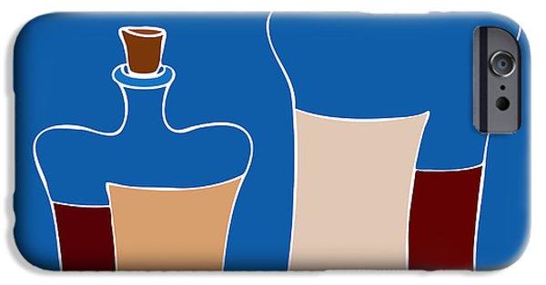 Wine Bottles IPhone Case by Frank Tschakert