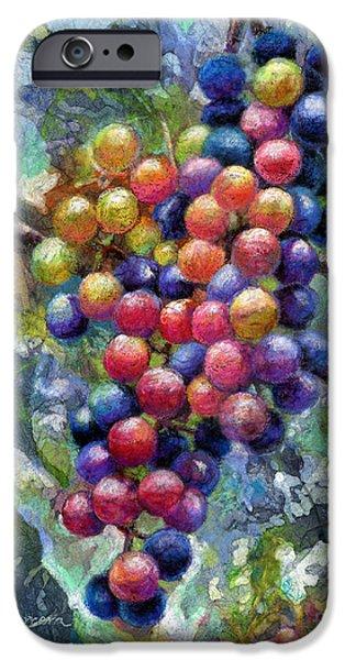Wine Grapes IPhone Case by Hailey E Herrera