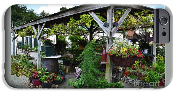 Winery Garden Gazebo IPhone Case by Amy Lucid