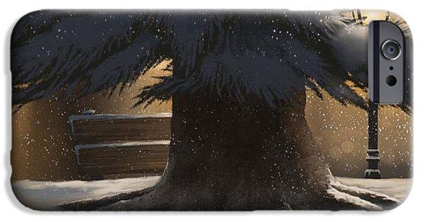 Winter Day IPhone Case by Veronica Minozzi