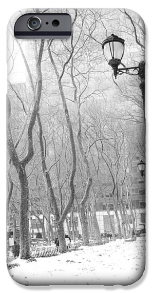 Winter In Byrant Park IPhone Case by Jessica Jenney