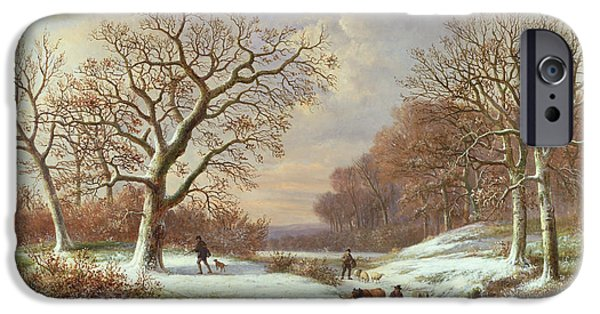 Winter Landscape IPhone Case by Louis Verboeckhoven