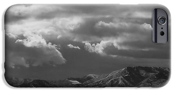 Winter Sky IPhone Case by Rona Black