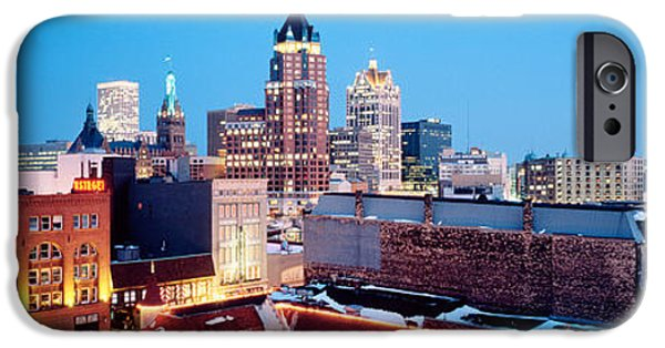 Winter Skyline At Night, Milwaukee IPhone Case by Panoramic Images
