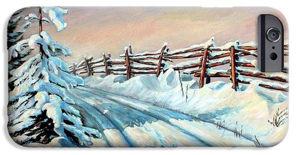 Winter Snow Tracks IPhone Case by Hanne Lore Koehler