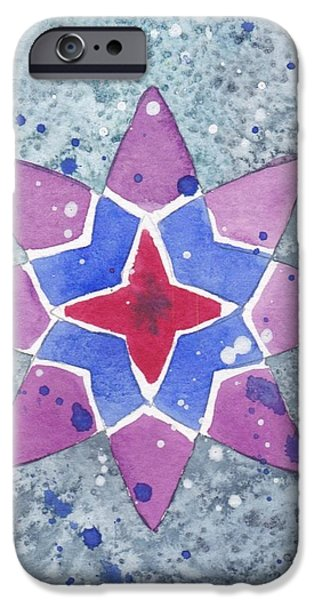 Winter Star IPhone Case by Paula Anthony
