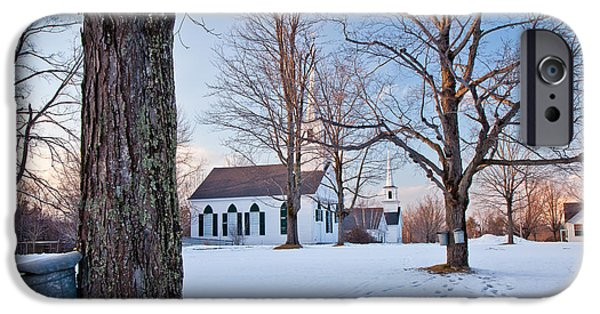 Winter Sunset In New Salem IPhone Case by Susan Cole Kelly