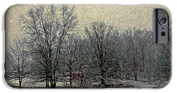Winter's First Snowfall IPhone Case by Bellesouth Studio