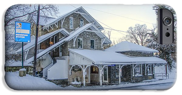 Wintertime Haverford Station IPhone Case by Bill Cannon